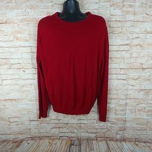 Express Modern Fit Red Sweater 100% wool SZ XL